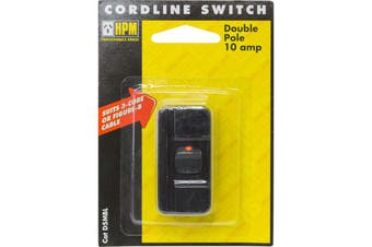 D5MBL  Black Cord Line Switch HPM   Rated: 10Amp 240Volts Ac  BLACK CORD LINE SWITCH HPM