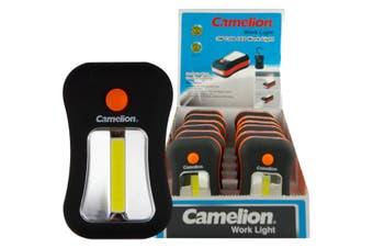 CAT7280N CAMELION 3W Cob LED Work Light Including Batteries - Camelion  Dual Mode Beam Selector (4/24 LED)  CAMELION 3W COB LED WORK LIGHT
