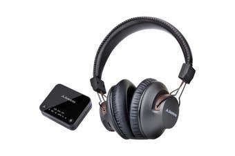 HT4189BLK AVANTREE Wireless Headphones For TV W/ Transmitter 30M Long Range  Dual-Link Technology Allows the Pairing of a Second Bluetooth Headphone  WIRELESS HEADPHONES FOR TV