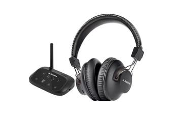 HT5009BLK AVANTREE Wireless Headphone For TV With Bluetooth Transmitter 50M  Dual-Link Technology Allows the Pairing of a Second Bt Headphone  WIRELESS HEADPHONE FOR TV
