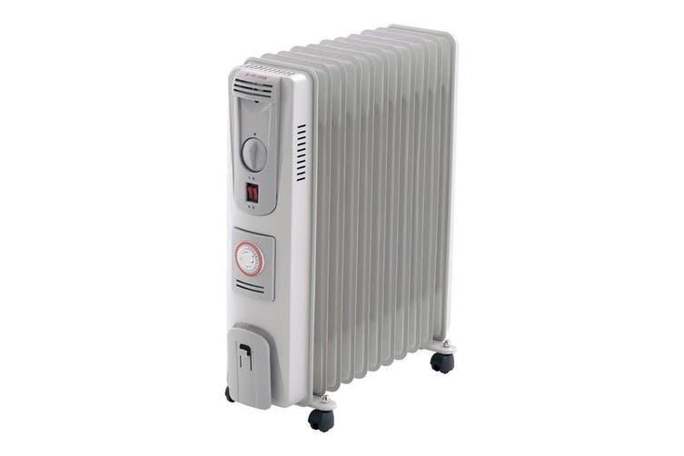 OIL11T HELLER 2400W 11-Fin Oil Column Heater With Timer Heller  3 Heat Settings 900/1500/2400W  2400W 11-FIN OIL COLUMN HEATER