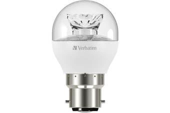 65364 VERBATIM B22 Mini Globe 6.2W Dimmable Clear 470Lm 3000K Warm White  Clear Dome  B22 MINI GLOBE 6.2W DIMMABLE