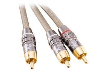 X07812 CONNEXIA RCA Plug To 2X RCA Plug - 8M   RCA Plug To 2X RCA Plugs  RCA PLUG TO 2X RCA PLUG - 8M