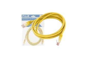 LC7155Y Pro2 20M Yellow Cat5e Patch Lead Pro2  Rj-45 Male Connectors  20M YELLOW CAT5E PATCH LEAD
