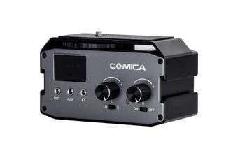 AX3 COMICA Dual Ch Preamp Audio Mixer XLR/6.35/3.5Mm  Selectable Phantom & Plug-In Power  DUAL CH PREAMP AUDIO MIXER