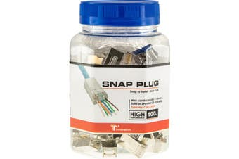 T3SPSC6 T3 Stp Rj45 Cat6 Solid Snap Plug 100 Pack Shielded 1.3Mm 2724  Max. Conductor Size: 1.3Mm  1.3mm