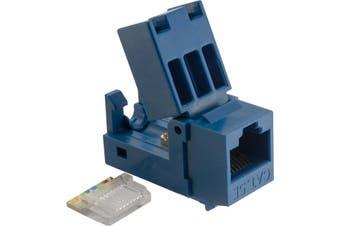 EZSJC5-BLU PLATINUM TOOLS Ez-Snapjack Cat5e Blue Socket Platinum Tools Rj45 Mech  Repair Damaged Jacks On the Spot  EZ-SNAPJACK CAT5E BLUE SOCKET