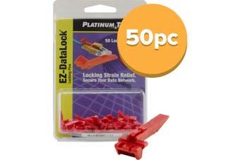 EZDLLP PLATINUM TOOLS Ez Datalock Locking Pins 50Pcs For Datalock Strain Relief  Colour: Red  EZ DATALOCK LOCKING PINS 50PCS