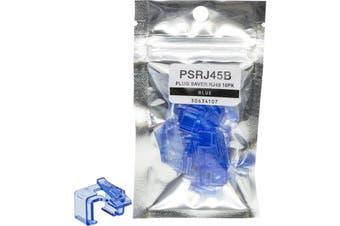 PSRJ45B T3 Plug Saver Rj45 10Pk Blue   Extending Rj45 Connector Life  PLUG SAVER RJ45 10PK BLUE