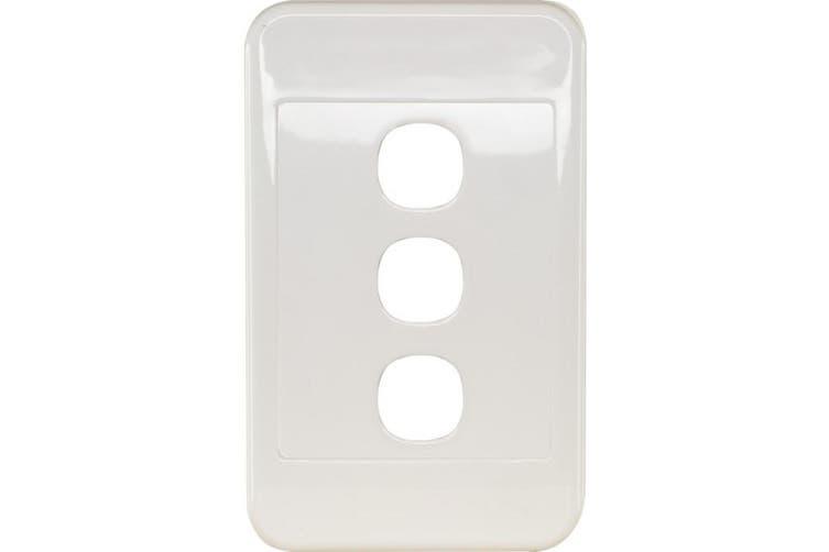 PK4593 CLIPSAL 3 Gang Wall Plate White Clipsal 2000 Series  Size: 116Mm X 76Mm X 13Mm  116mm x 76mm x 13mm