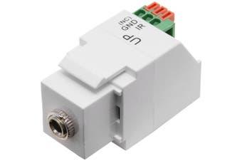 PK4916 Pro2 IR Emitter Keystone Adaptor Suits Mwi13ks Mw13fr  Socket Module: 3.5Mm Stereo Jack  IR EMITTER KEYSTONE ADAPTOR
