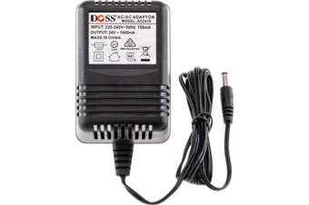 AC2410 DOSS 24Vac 1Amp Ac Power Supply 2.1Mm Plug  Rated at 1Amp Max.  24VAC 1AMP AC POWER SUPPLY