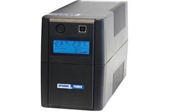 DSV600  600Va Upsonic Domestic UPS Mod Sine-Wave Line Interactive  Microprocessor Control: Guarantees High Reliability and Efficient Operation  600VA UPSONIC DOMESTIC UPS
