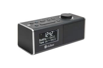 RR40BLK RICHTER Digital DAB+ Alarm Clock Radio Black Bluetooth/ NFC Richter  Preset 10 DAB+ & 10 FM Stations  DIGITAL DAB+ ALARM CLOCK RADIO