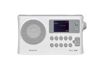 DPR16CW SANGEAN White DAB+/FM Digital Radio Colour Screen 2 Alarms- Rechar  10 Station Presets (5X DAB+ & 5X FM)  WHITE DAB+/FM DIGITAL RADIO