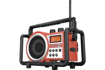TBOXR SANGEAN AM/ FM Tough Box Utility Radio Red Tradesman Proof - Sangean  Digital Pll Tuner FM and AM  AM/ FM TOUGH BOX UTILITY RADIO