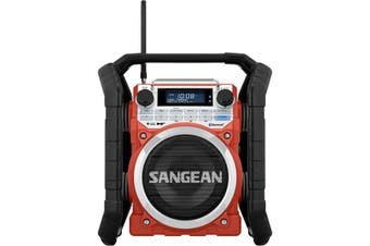 U4DBT SANGEAN Ultra Rugged Utility Radio Bluetooth, Aux In, Ip64 Rated  10 Station Presets (5X DAB+ & 5X FM)  ULTRA RUGGED UTILITY RADIO