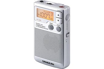DT250 SANGEAN Pocket Radio With Speaker Earphones Beltclip  Sangean  Built-In Speaker  POCKET RADIO WITH SPEAKER