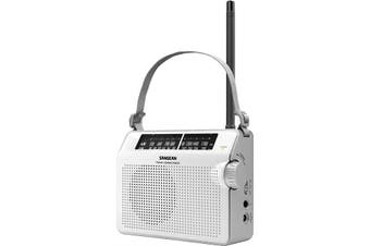 PRD6W SANGEAN Compact AM/FM Analogue Radio White  Ac/DC Portable  Sangean  Excellent Reception and Sound Reproduction  COMPACT AM/FM ANALOGUE RADIO