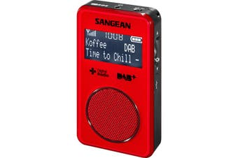 DPR35R SANGEAN Red DAB+ FM-Rds Pocket Radio Sangean  FM and DAB+ / Digital Radio Plus  RED DAB+ FM-RDS POCKET RADIO