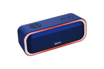 WB10BLU DOSS Soundbox Pro Bluetooth Speaker Blue  Beat-Driven Light Show  SOUNDBOX PRO BLUETOOTH SPEAKER
