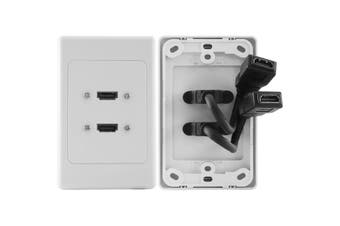 HDMI2FLEX Pro2 2X HDMI Vertical Wall Plate Flexible Thin Wall Rear Socket  Silver Plated HDMI Certified 1.3A Compliant Connectors For Uncompromised Performance  2X HDMI VERTICAL WALL PLATE