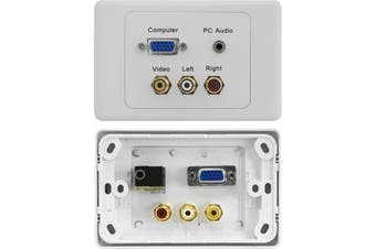 PRO1277 Pro2 VGA + Composite AV + PC Audio Suit Clipsal  Wall Plate  1X VGA Socket To Socket  VGA + COMPOSITE AV + PC AUDIO