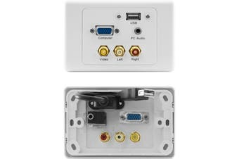 PRO1309 Pro2 VGA Composite AV USB PC Audio Suits Clipsal Wall Plate  1X VGA Female To Female  VGA COMPOSITE AV USB PC AUDIO