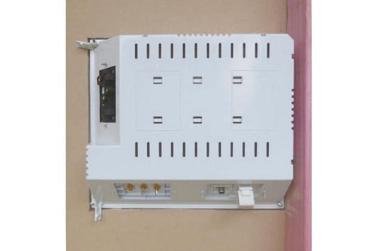 MHUB1 MATCHMASTER Recessed Hidden Media Hub In Wall Ceiling  Can Hold Up To 5 Standard Face Plates  RECESSED HIDDEN MEDIA HUB