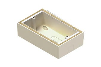WB50SW AUDAC White Surface Mount Box For Mwx65 Control  Suits:Dw5066, Mwx65 and Wp523.  WHITE SURFACE MOUNT BOX