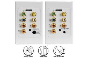 PRO1254D Pro2 Audio Video & Component + IR Cat5 Extender Kit Suit Clipsal  Distributes Your AV Signals Via Economical Cat5 Cable  AUDIO VIDEO & COMPONENT + IR