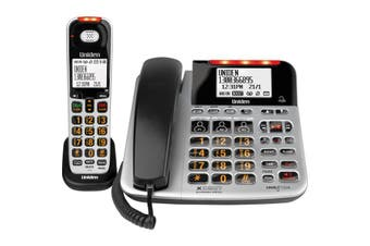 SSE47+1 UNIDEN Corded & Cordless Phone For Visual & Hearing Impaired  Large Display Screen and Buttons  CORDED & CORDLESS PHONE