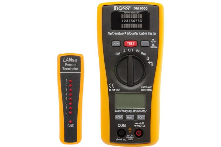 DM1000 DOSS LAN Tester & Multimeter Combo Dmm - Doss  2 In 1 LAN Tester & Multimeter  LAN TESTER & MULTIMETER COMBO