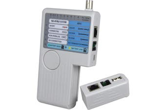 NF3468 DOSS Cable Continuity Tester Rj11 Rj45 BNC Common USB Cable  Tests Shielded (Stp) or Unshielded(Utp) LAN Cables  CABLE CONTINUITY TESTER