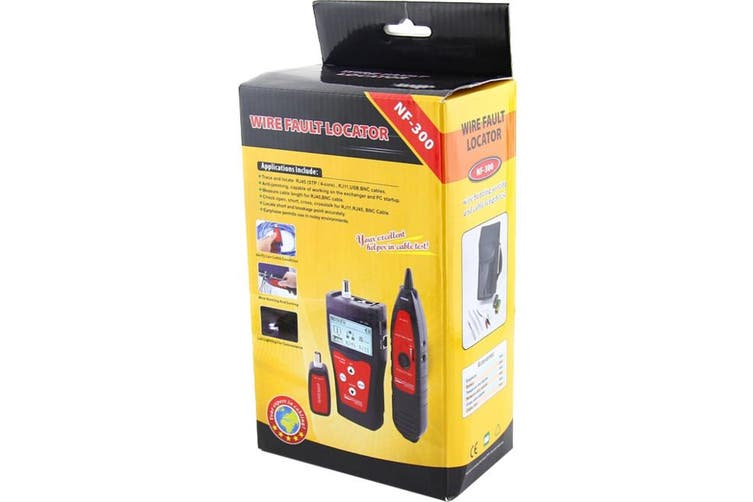 NF300 DOSS Network Coax Cable Tester Flashing Port Function  Rj45, Rj11, USB and BNC Testing  NETWORK COAX CABLE TESTER
