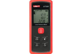 UT391 UNI-T Laser Distance Meter 60M Uni-T  Measure Distance, Area and Volume of the Given Areas  LASER DISTANCE METER 60M