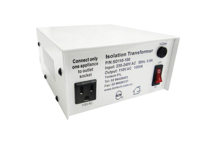 SD110-100W TORTECH 100W Usa Stepdown Transformer 110V Dielectrically Isolated  All Our Stepdowns Come With a 1 Year Money Back Warranty  100W USA STEPDOWN TRANSFORMER