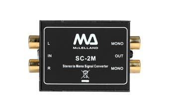 SC2M MCLELLAND Stereo To Mono Audio Converter Passive  1X Stereo Input To 2X Mono Outputs  STEREO TO MONO AUDIO CONVERTER
