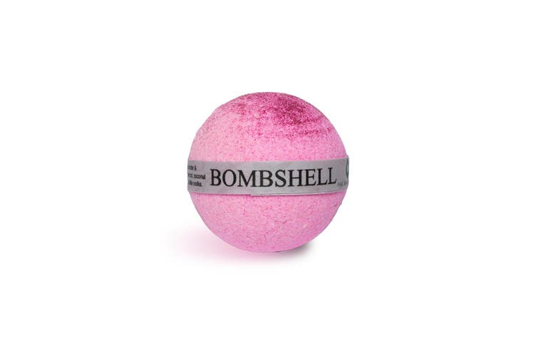 Handcrafted Natural Luxury Victoria Secret Bombshell Bath Bomb with Pink Glitter