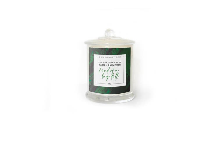 Basil + Cucumber Hand Poured Soy Aromatherapy Candle
