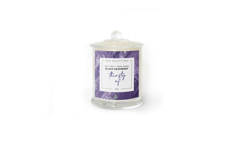 Black Raspberry Hand Poured Soy Aromatherapy Candle