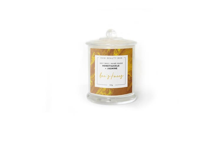 Honeysuckle + Jasmine Hand Poured Soy Aromatherapy Candle