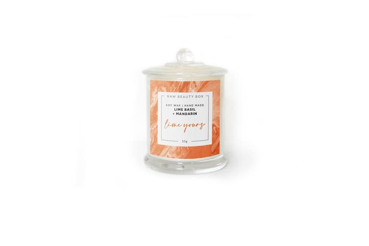 Lime Basil + Mandarin Hand Poured Soy Aromatherapy Candle