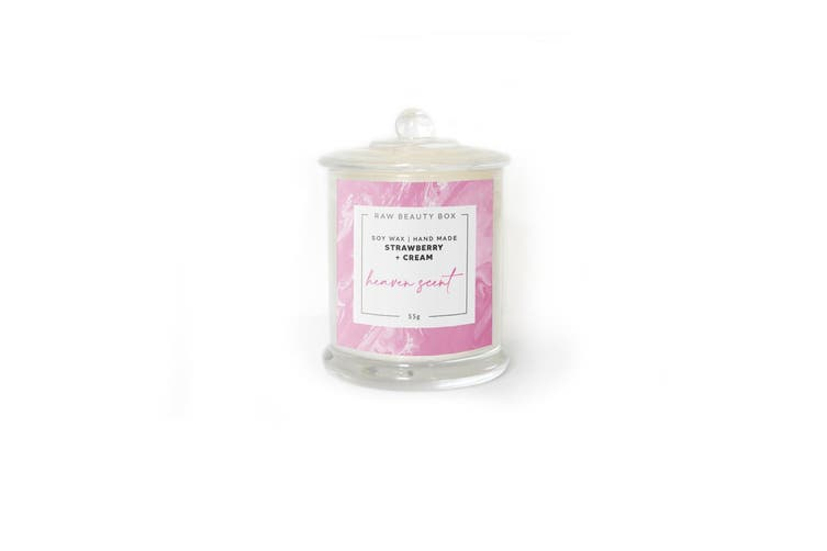 Strawberries + Cream Hand Poured Soy Aromatherapy Candle