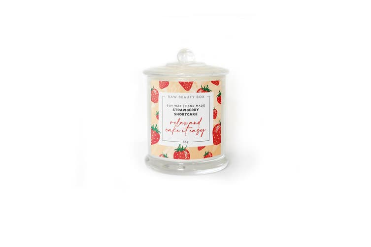 Strawberry Shortcake Hand Poured Soy Aromatherapy Candle