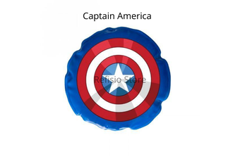 2 x Donjoy Advantage Marvel Reusable Round Cool Cold Ice Pack Kid/ Youth (Captain America)