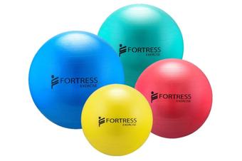 Fortress Rainbow Rehab Anti-Burst Non Slip Gym Fitness Ball, Max 500 KG