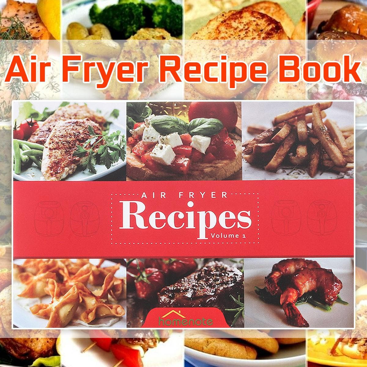 15 Air Fryer Cookbook Easy Healthy And Delicious Air Fryer Recipes For The Everyday Home This recipe introduces food made with Air Fryer.  Package included: 1 X Air Fryer Recipe Book  Specification: The number of pages:30 Language: English Product Dimensions:8.1 × 5.4 × 0.2 cm