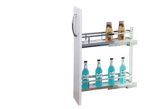 Provedore Pull-Out Under-Bench Storage - for 150mm Cabinet - Left Side Mount