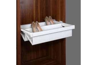 Pull Out Shoe Rack - for a 900mm Cabinet - White Colour